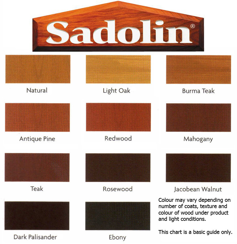 Sadolins colour chart