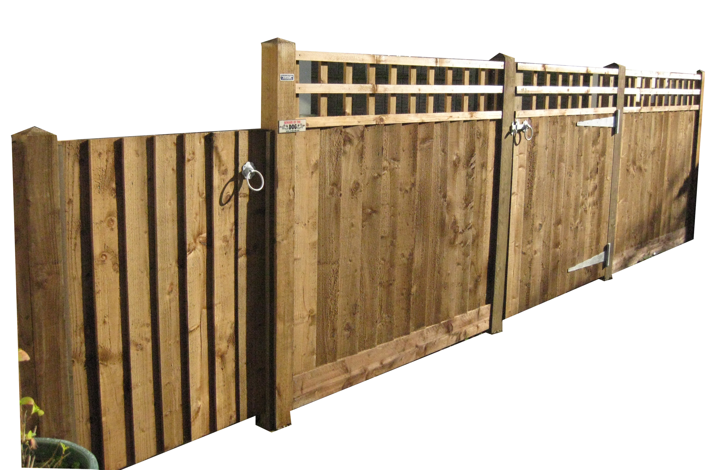 Closeboard with trellis tops and matching gate.