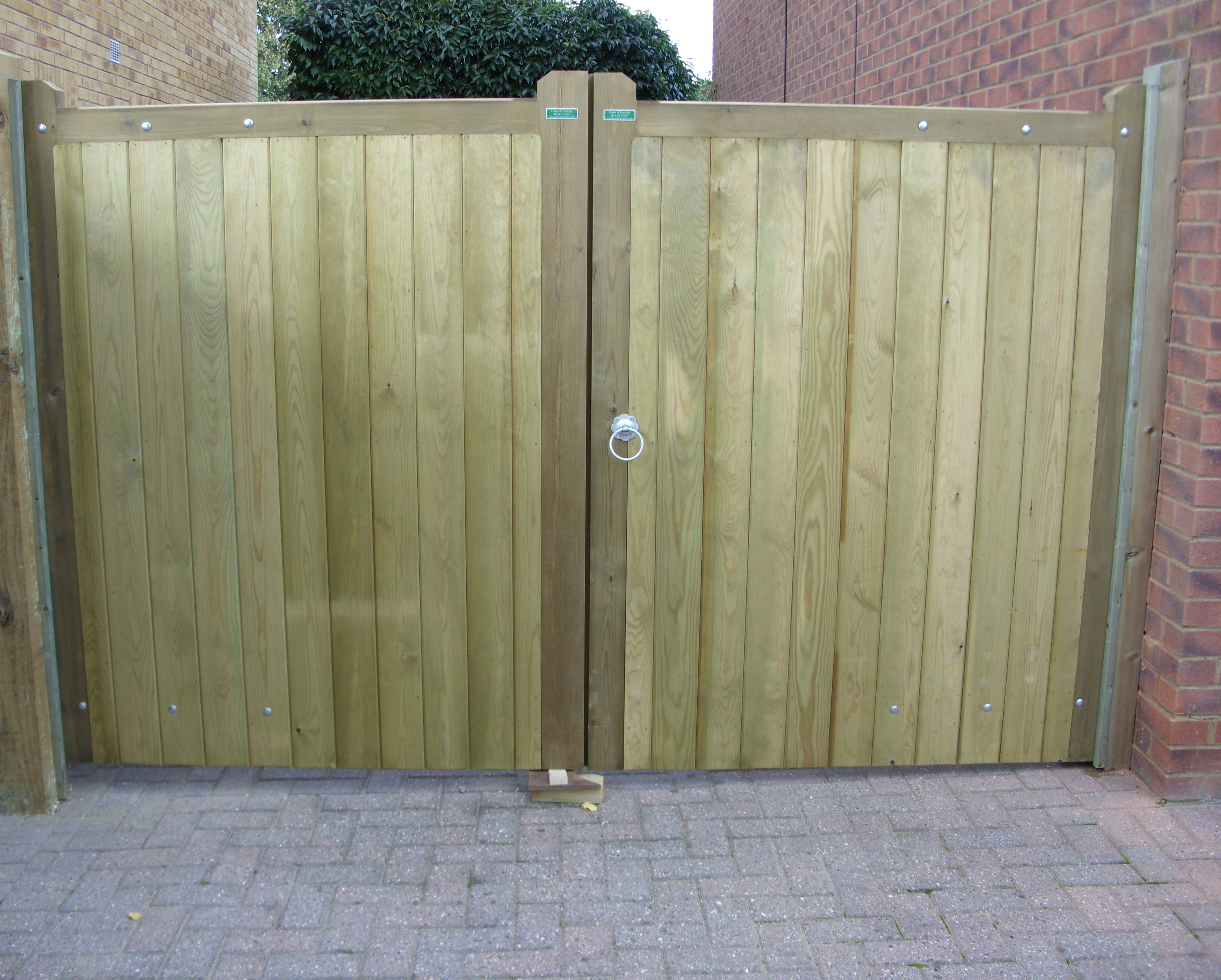 Blyth gates in pressure treated softwood.