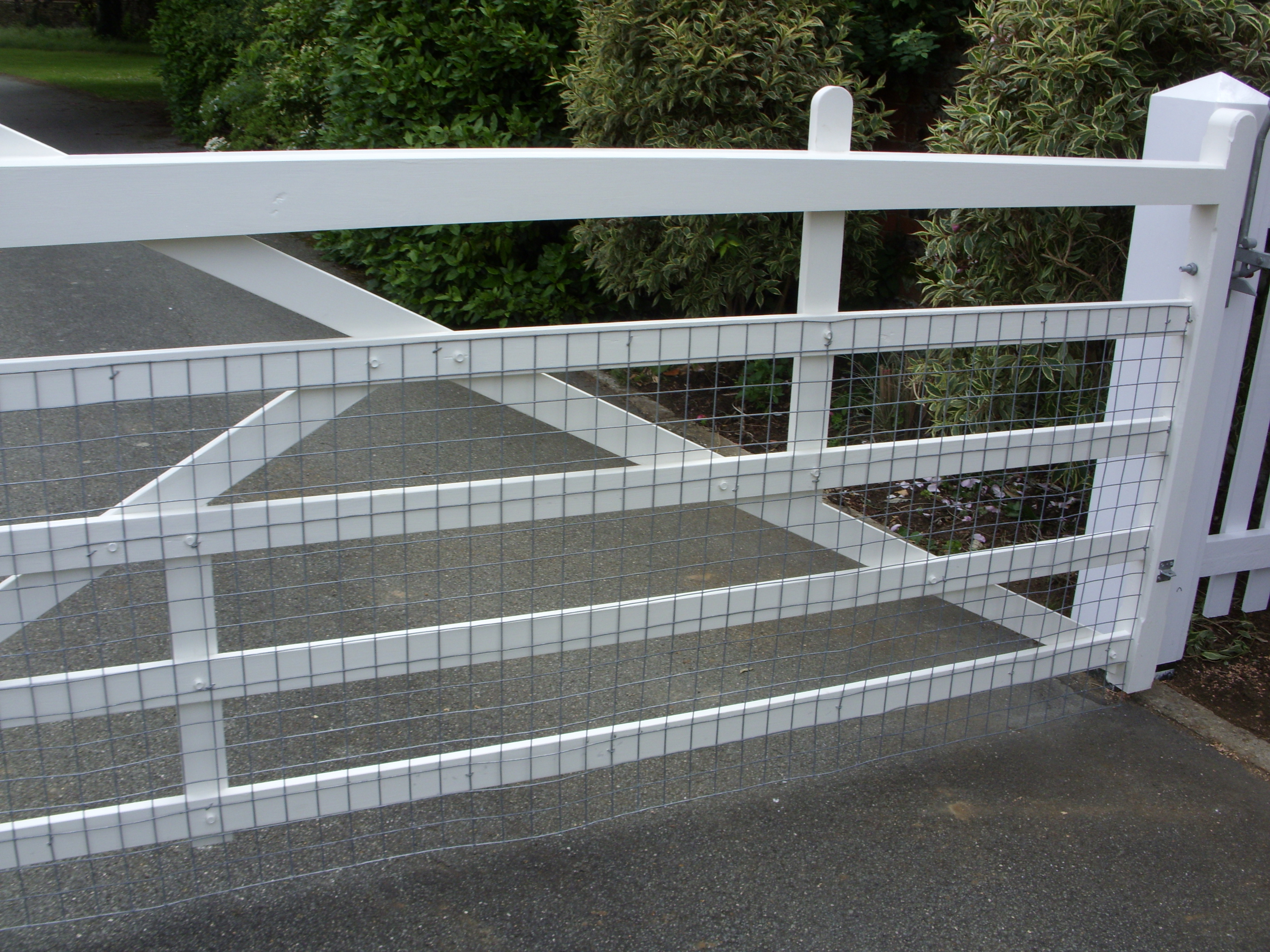 Mesh fitted to a 5 bar gate
