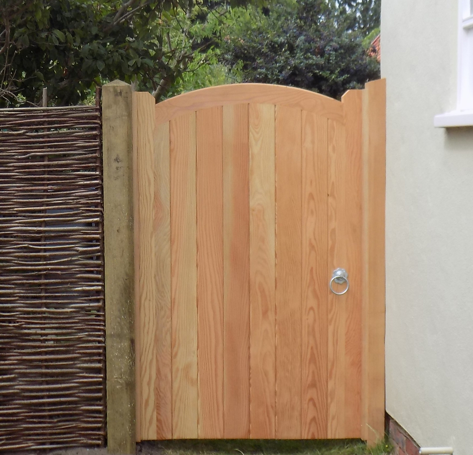 Deben pedestrian gate in Douglas Fir