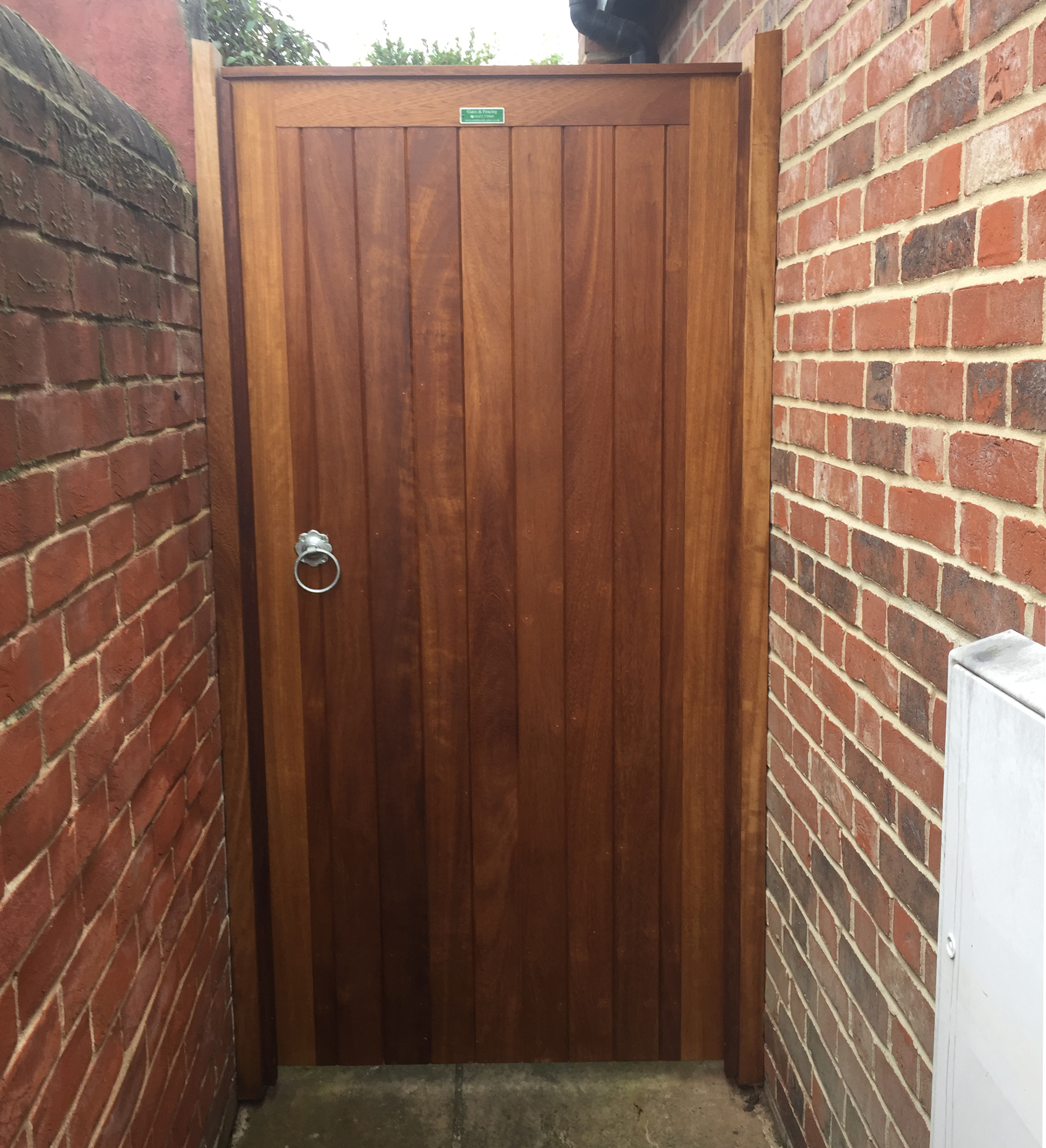 Glemham gate in oiled Iroko