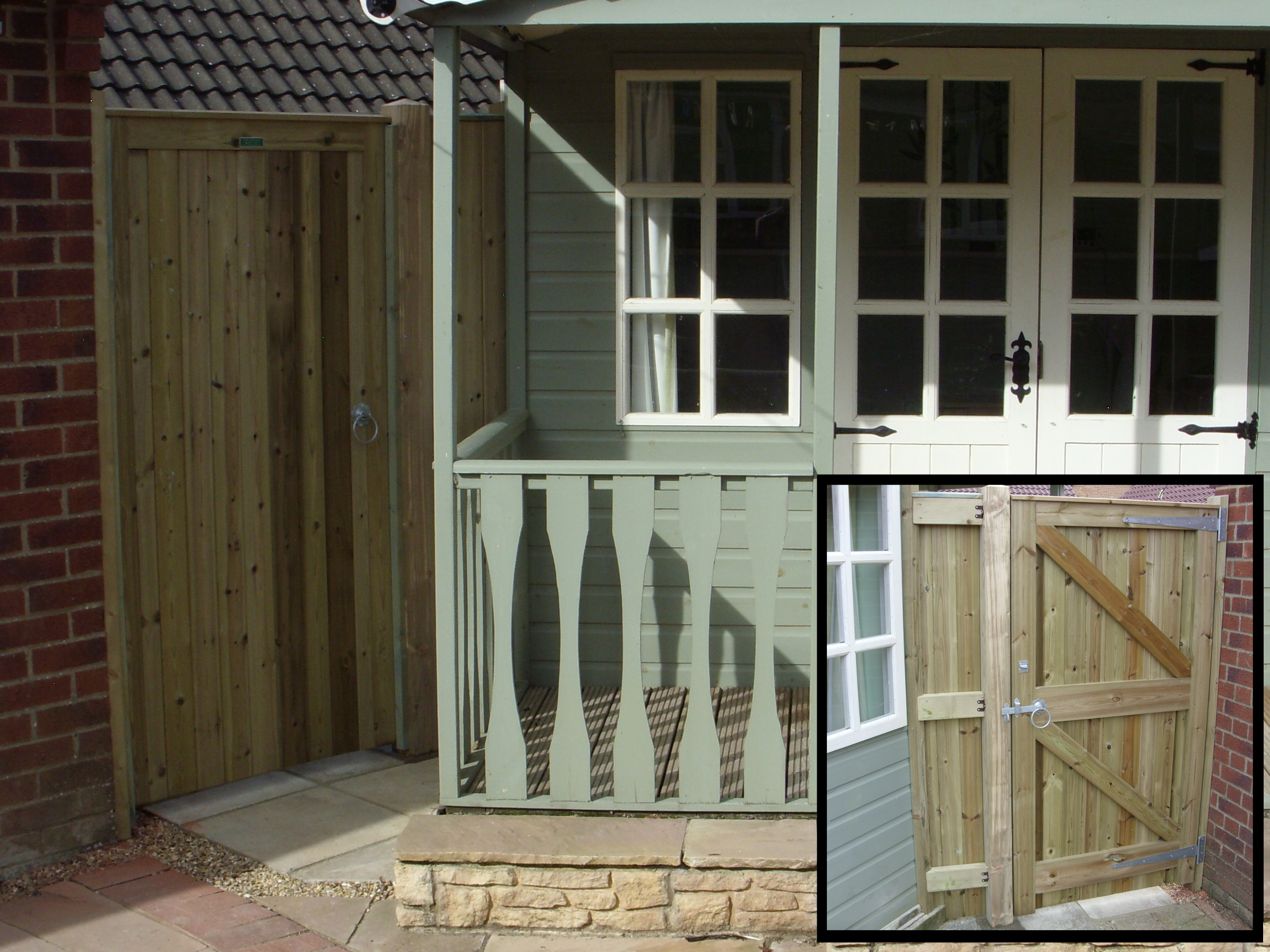 Glemham in pressure treated with insert of reverse.