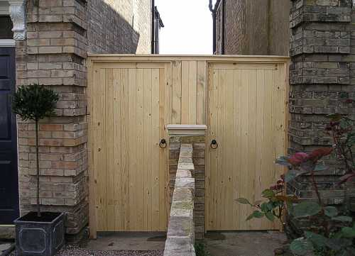 2 Pedestrian Glemham gates fitted as a pair with a Neighbour.
