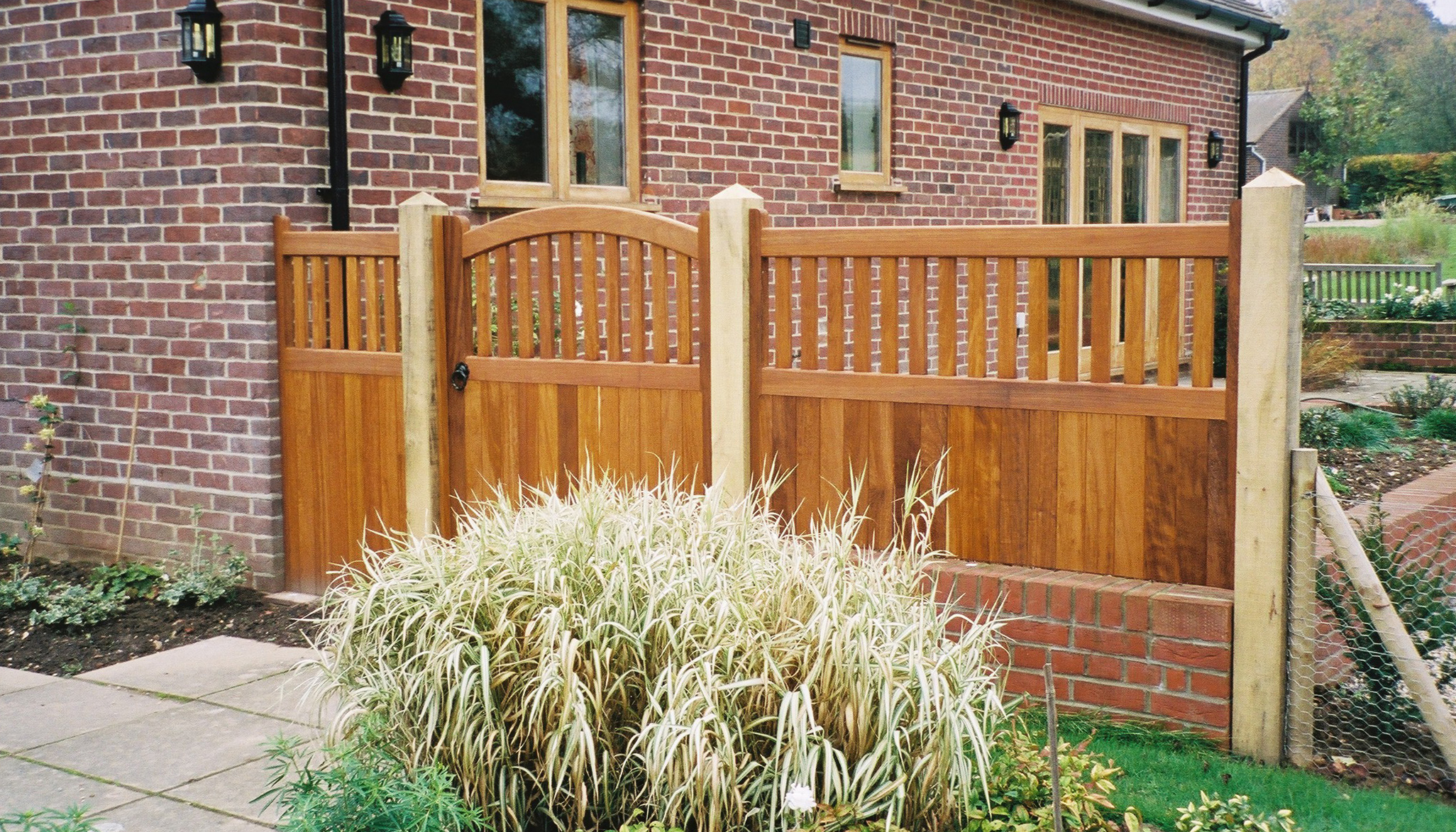 Kersey gate in oiled Iroko